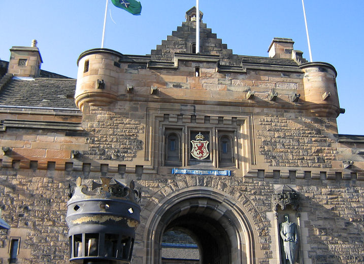 Gutter Stones at Edinburgh Castle, Scotland