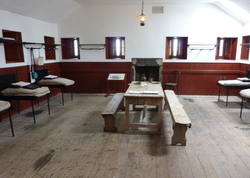 The reconstructed Barracks interior