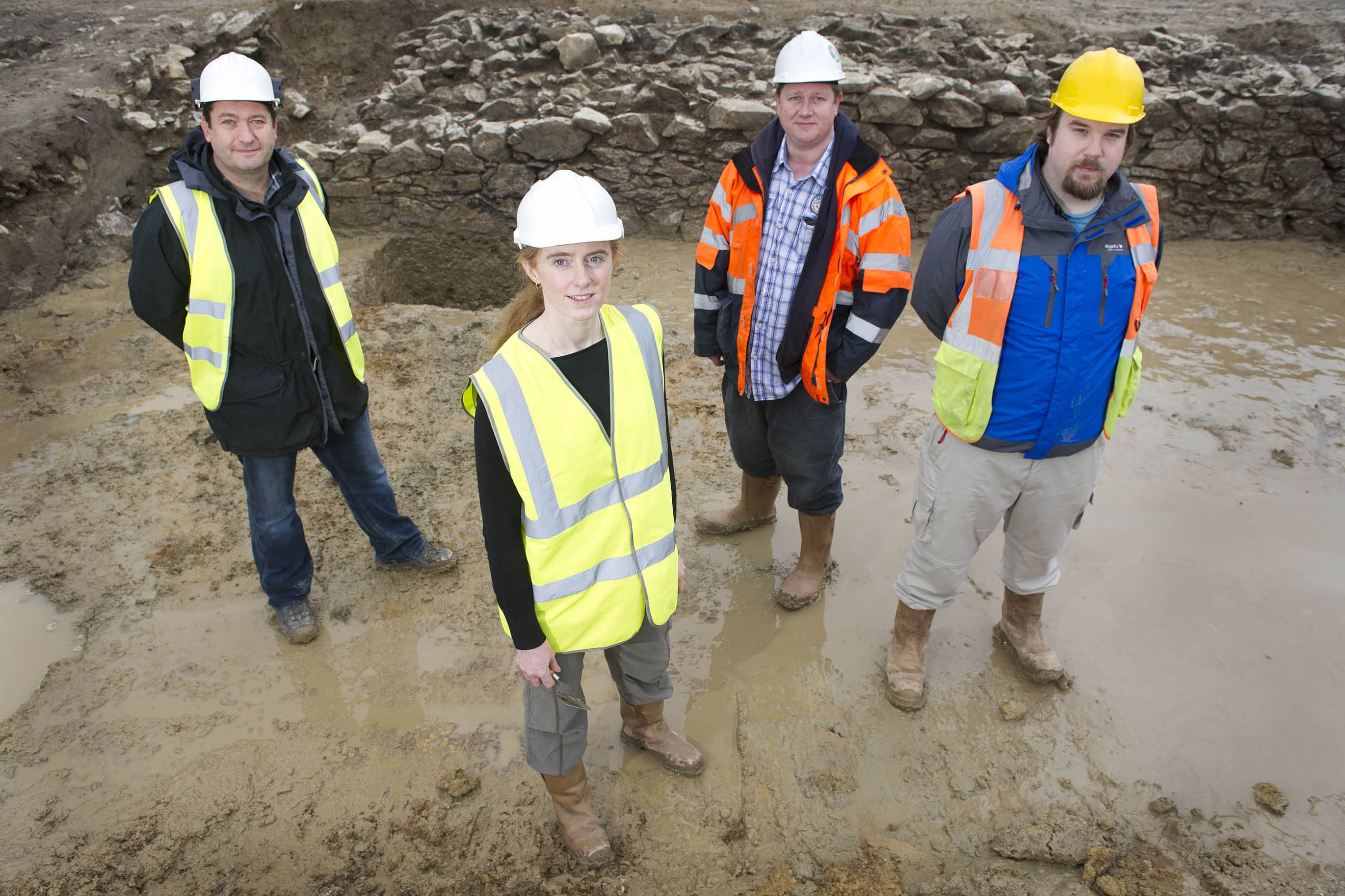 Shareholders of Rubicon Heritage Services Ltd (l-r) Colm Moloney, Louise Baker, Ross MacLeod & Damian Shiels