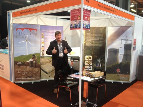 The Rubicon Stand at All-Energy 2013, replete with an enthusiastic Colm!