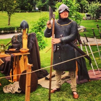 Claíomh's portrayal of an Irish Gallowglass warrior at the Aughrim Military History Summer Schoo