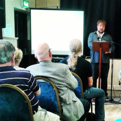 Rubicon's Damian Shiels discussing the 1504 Battle of Knockdoe at the Aughrim Military History Summer School