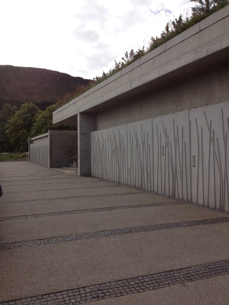 The exterior of the Scottish Parliament as it currently appears (Rubicon Heritage Services)