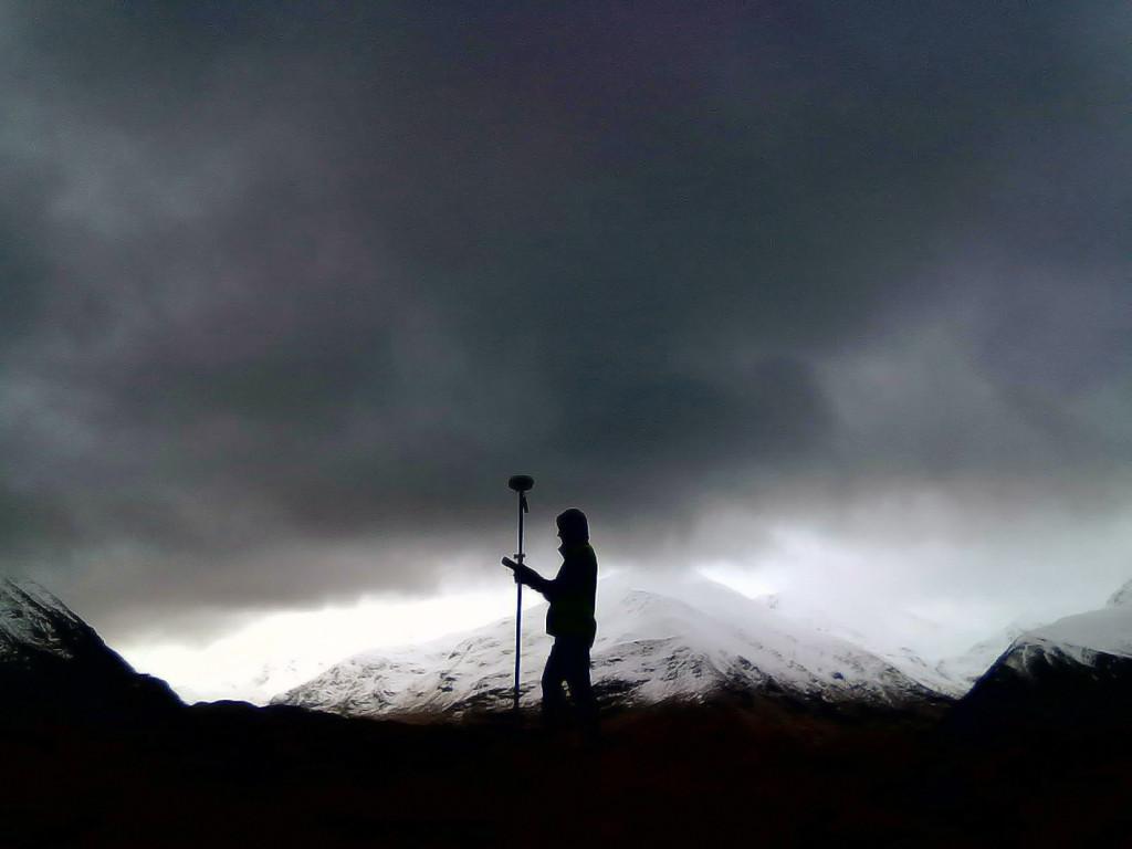 A topographical survey of Dun Deardail vitrified hillfort, Glen Nevis