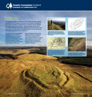 Modelling Castle O'er: A Poster from the Forestry Commission Scotland