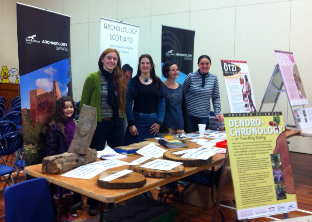 Rubicon's Louise Baker with other archaeologists at the Dunbar Science Festival
