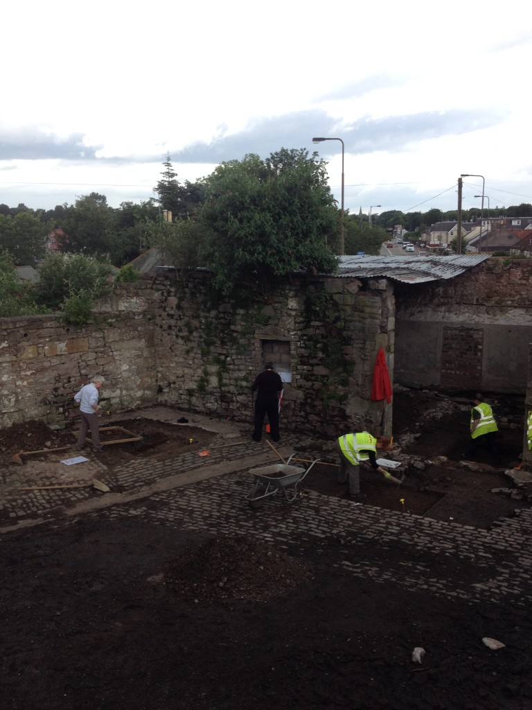 Archaeology in Action this week at Bridgend Chapel, Edinburgh