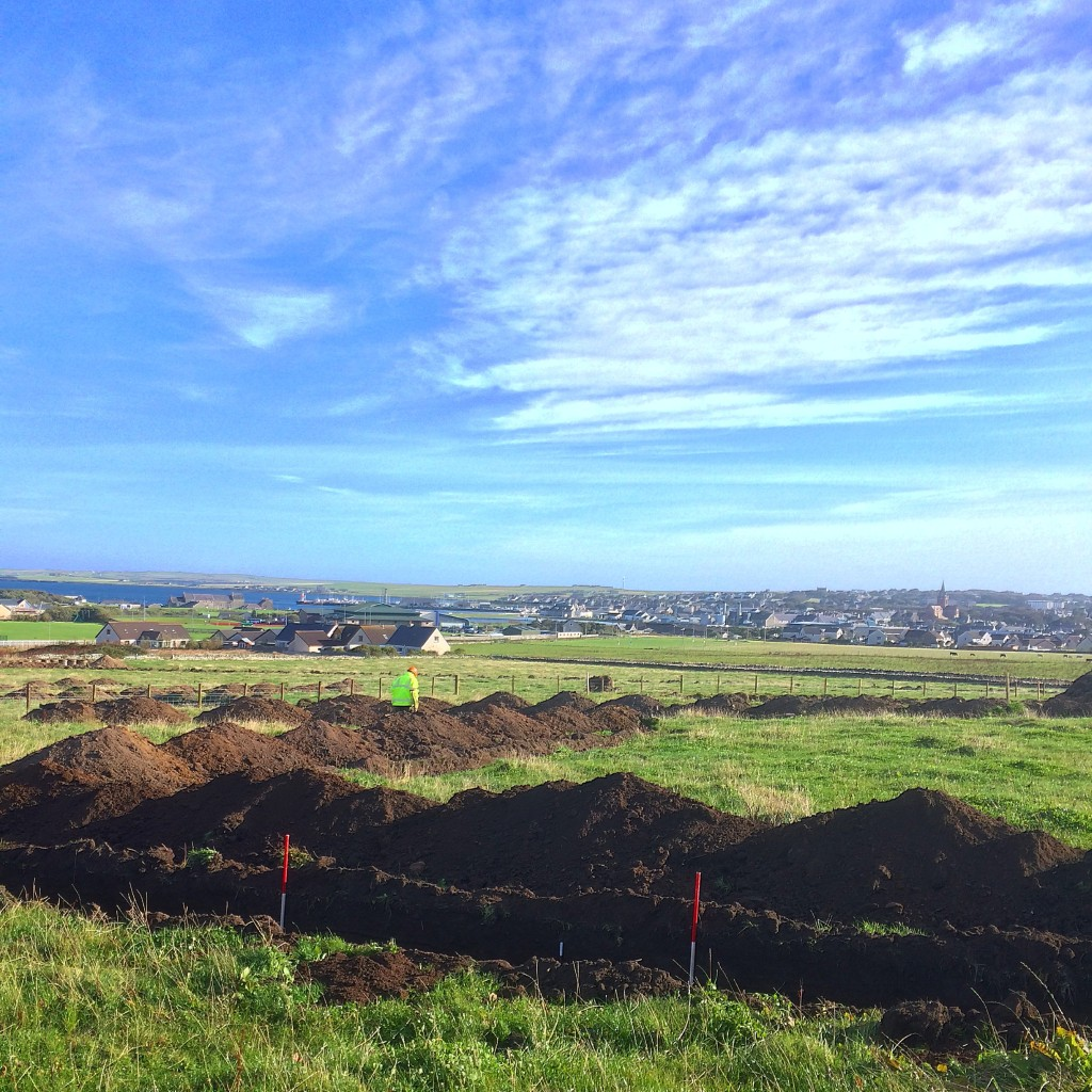 Evaluation trenching in Orkney (Rubicon Heritage)