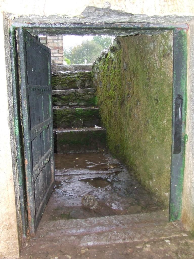 Interior view towards door of 'Sing Sing' Prison