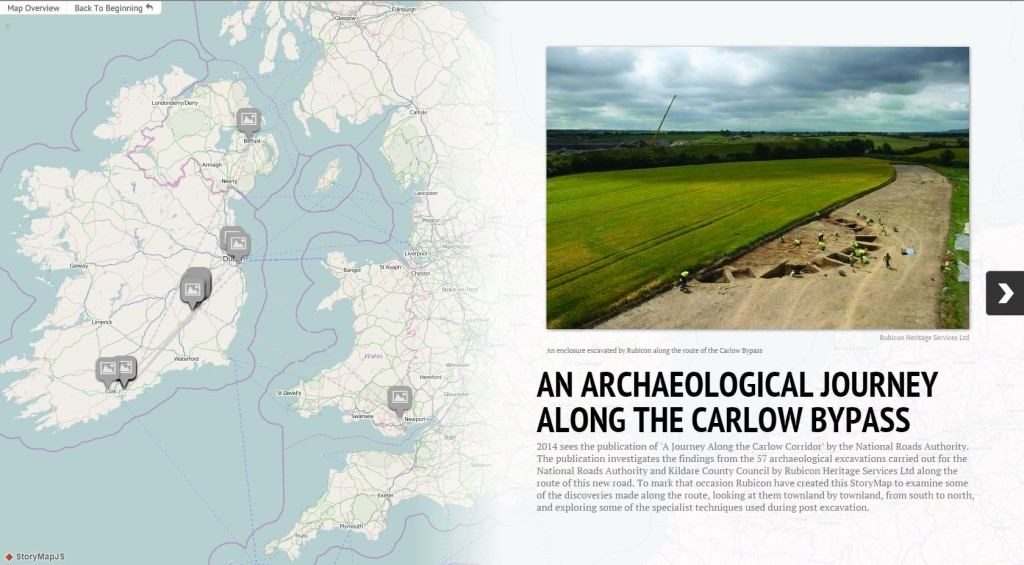 StoryMap JS: An Archaeological Journey Along the Carlow Bypass