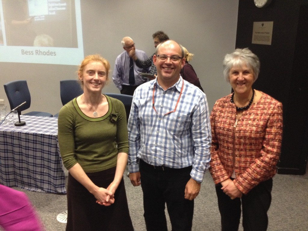 Rubicon's Louise Baker, Edinburgh City Archaeologist John Lawson and Greater Liberton Heritage Project's Dr. Margaret Collingwood at the Conference