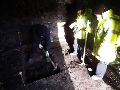 Digging a Doocot in Lochend Park, Edinburgh