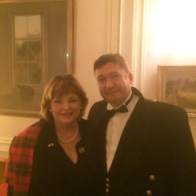 Colm with Ms Fiona Hyslop MSP, Cabinet Secretary for Culture, Europe and External Affairs