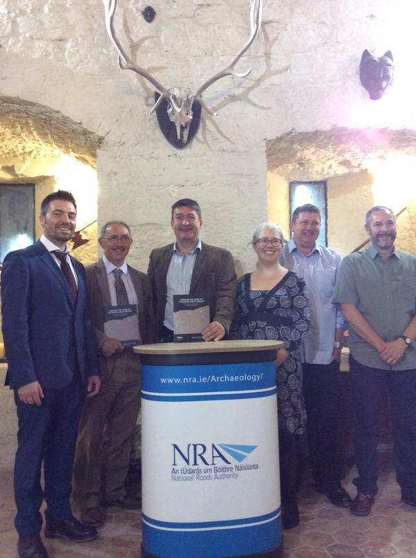 The Launch of 'Through the Lands of the Auteri and St. Jarlath' at Claregalway Castle. L-R Martin Jones, Christy Cunniffe, Colm Moloney, Teresa Bolger, Ross MacLeod, Jim McKeon.