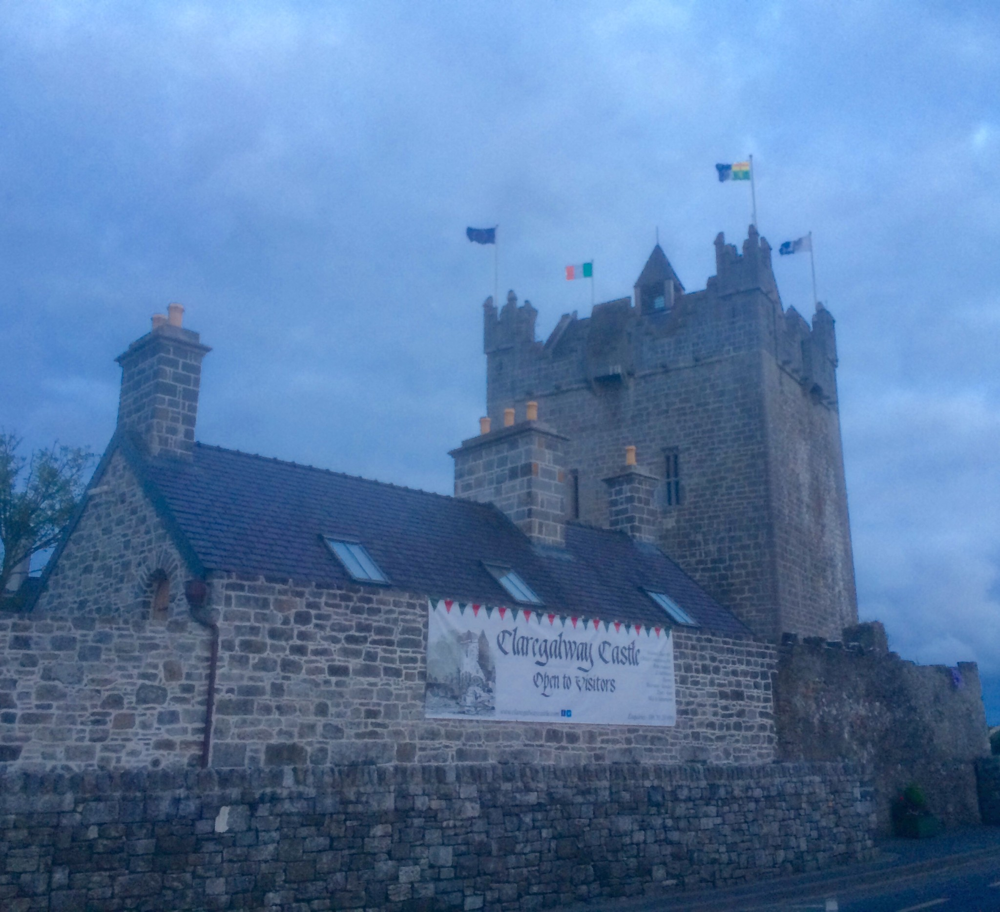 Claregalway Castle, the venue for the launch of 'Through the Lands of the Auteri and St. Jarlath'.
