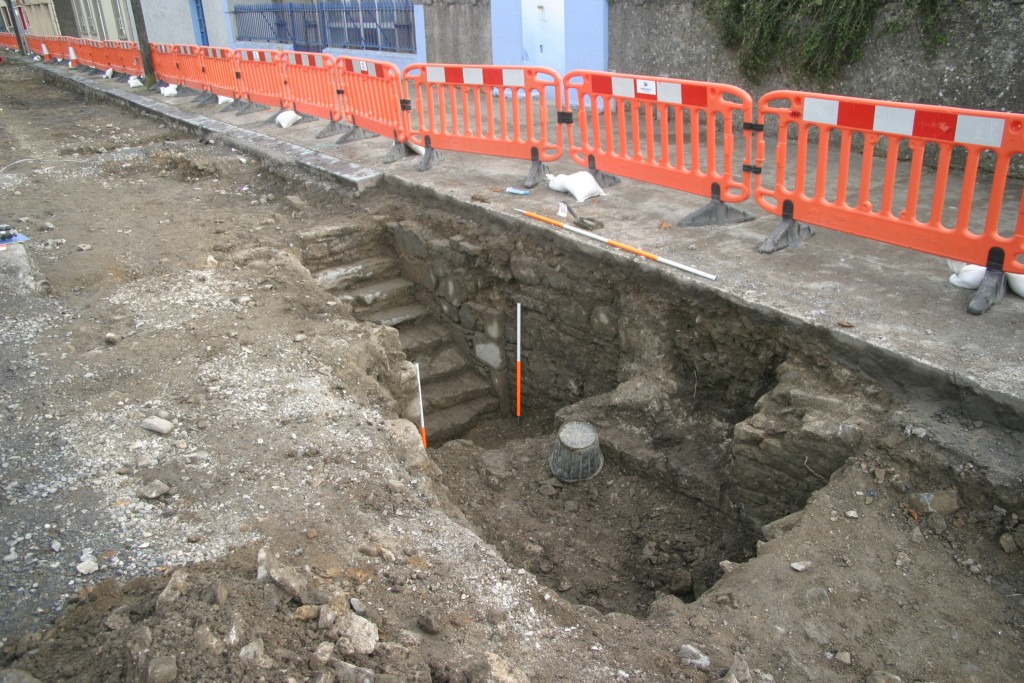 Another view of the cellar uncovered during the excavations at Buttevant (Copyright Rubicon Heritage)