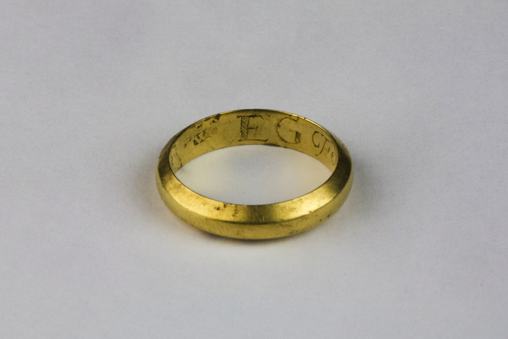 The Buttevant posy ring also bears the initials 'E G' on the interior (Copyright Rubicon Heritage)