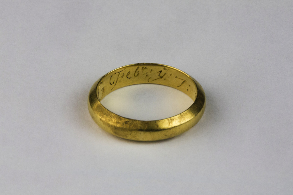 Another shot of the posy ring showing the month of February (Copyright Rubicon Heritage)