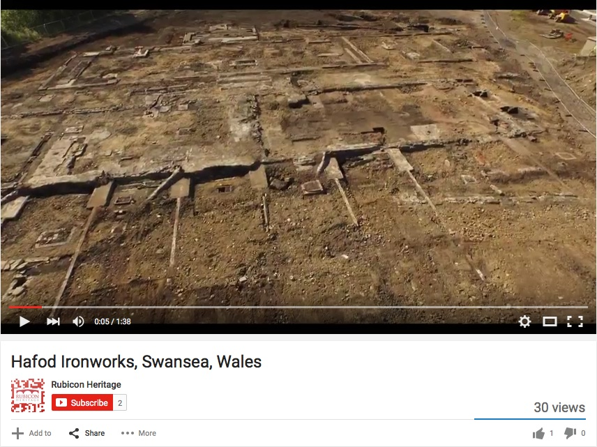 Industrial Archaeology From The Air: Hafod Ironworks, Morfa, Swansea