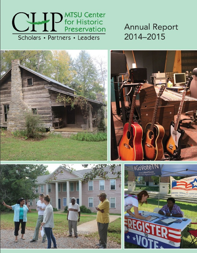 The MTSU Center for Historic Preservation Annual Report. The visit of Damian Shiels is covered on Page 4. (MTSU)